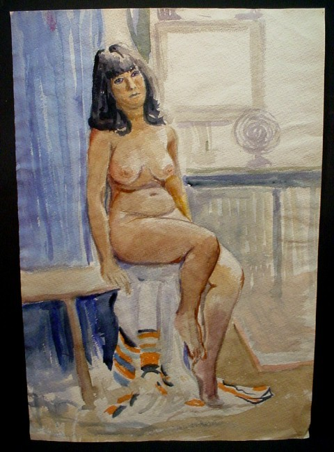 dark-haired woman on blanket