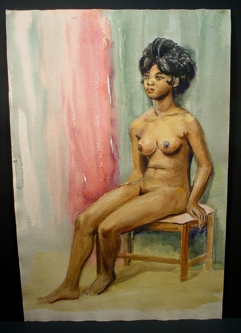 african-american woman sitting