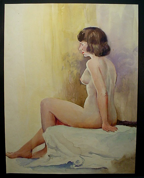 brown-haired woman sitting