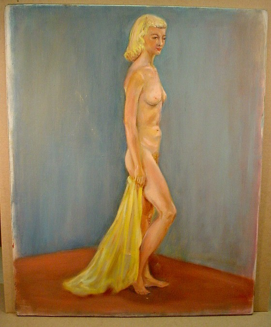 blonde woman standing