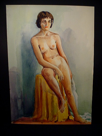 short-haired woman sitting