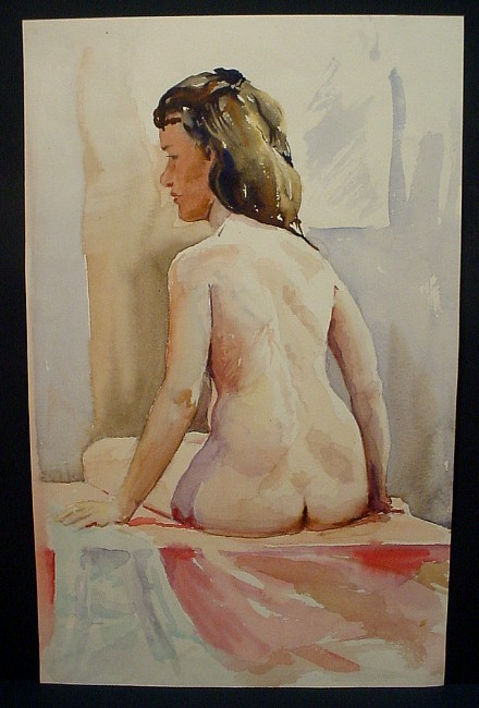 brown-haired woman from back