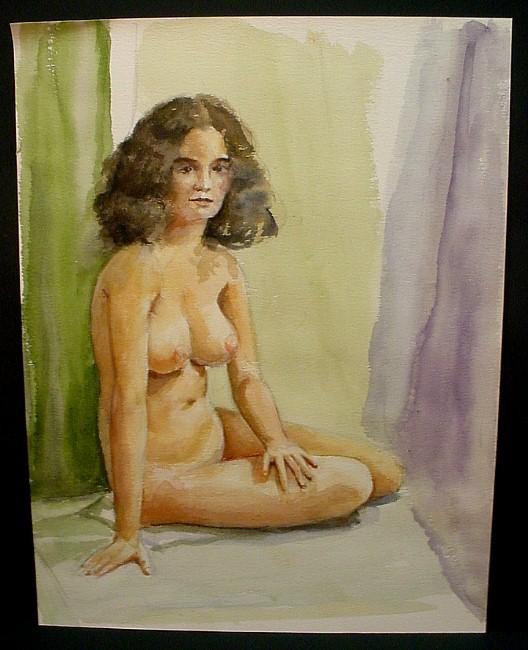 dark-haired woman sitting