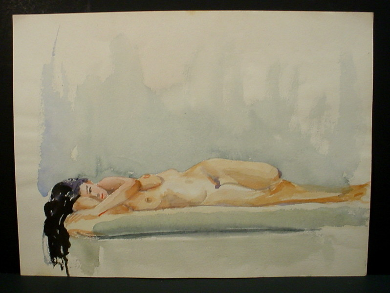 long-haired woman reclining