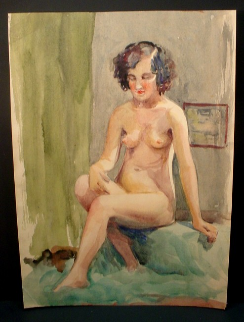 curly-haired woman sitting
