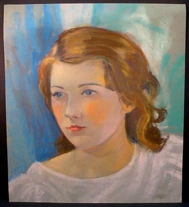 pastel portrait c1920s