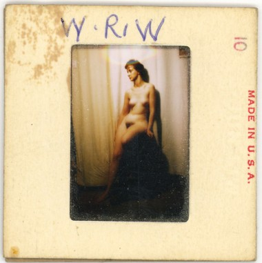WR Watkins slide of nude sitting