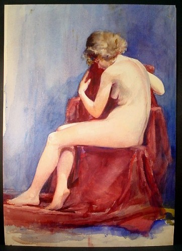 WR Watkins curled nude 1930s