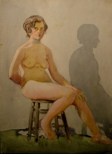 WR Watkins nude with shadow c.1920s