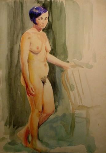 WR Watkins standing nude 1920s