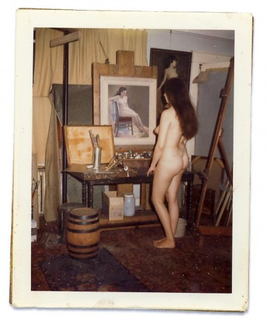 WR Watkins' studio with nude model c.1960