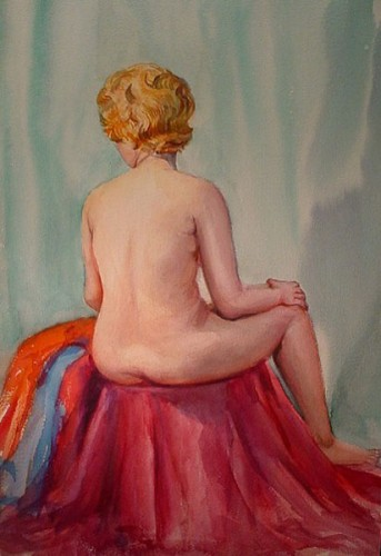 WR Watkins nude back c.1940s