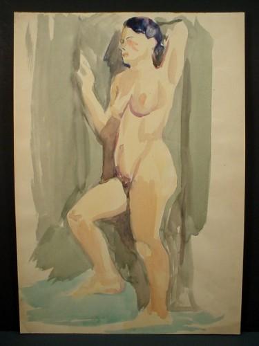 WR Watkins primitive standing nude