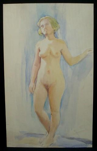 WR Watkins nude sketch c.1930s