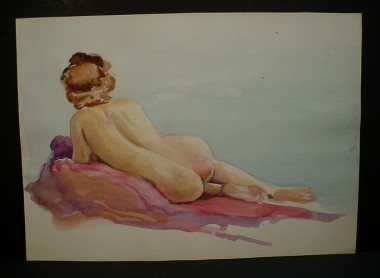 WR Watkins reclining nude (watercolor)