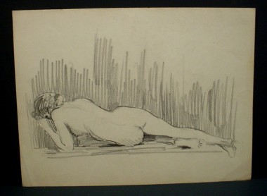 WR Watkins reclining nude (pencil)