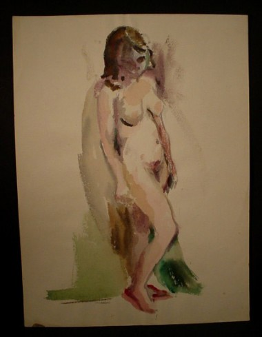 WR Watkins nude sketch c.1950