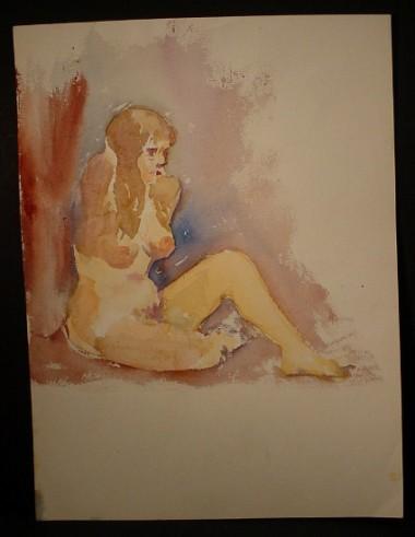 WR Watkins nude sketch c.1960