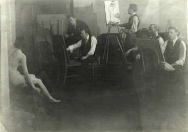 WR Watkins at Baltimore Charcoal Club c.1930
