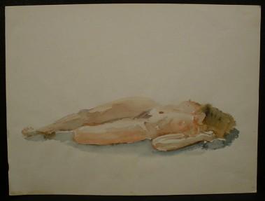 WR Watkins reclining nude