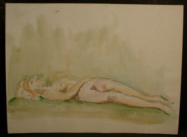 WR Watkins reclining figure