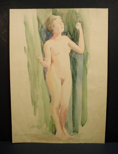 WR Watkins standing nude
